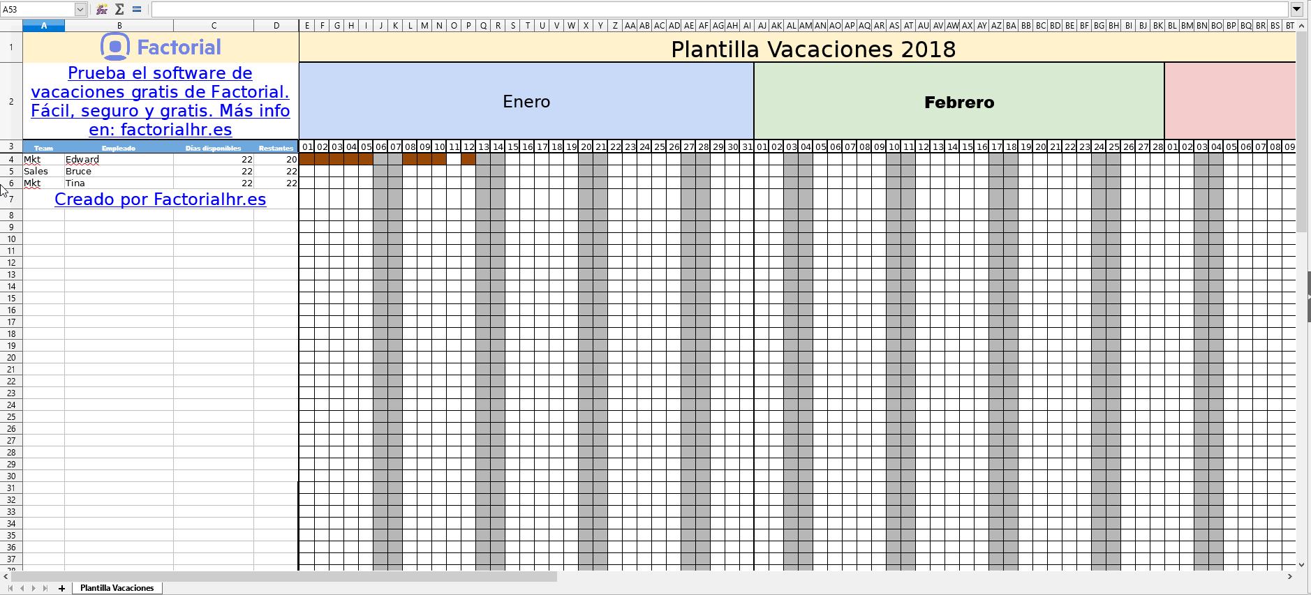 Gestión de vacaciones de empleados con Excel [Plantilla 2018]