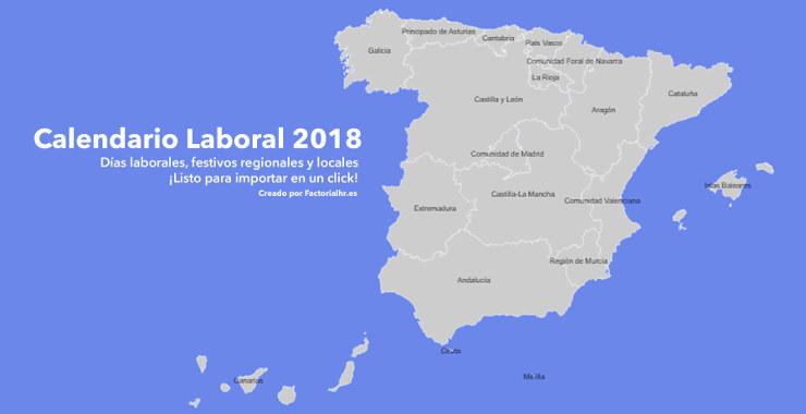 Calendario laboral 2018 espana festivos
