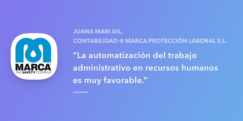 Entrevista con Juana Mari Gil, Marca Protección Personal SL