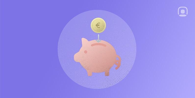 cerdito rosa hucha moneda