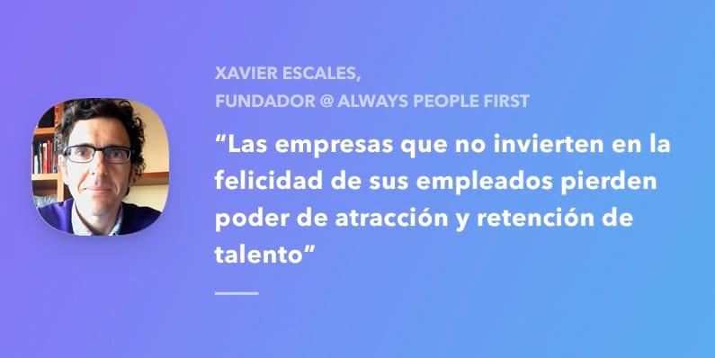 Entrevista con Xavier Escales, fundador de Always People First