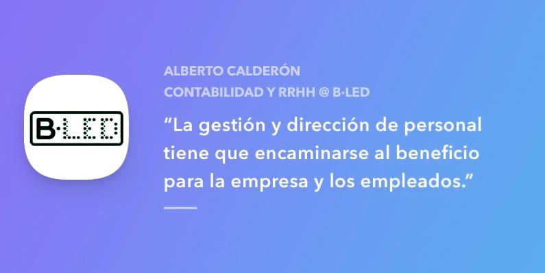 Entrevista con Alberto Calderón de B·LED
