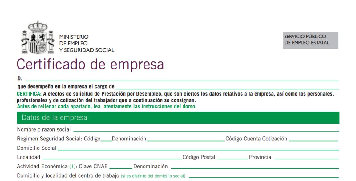 modelo certificado empresa