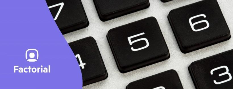 factorial teclado
