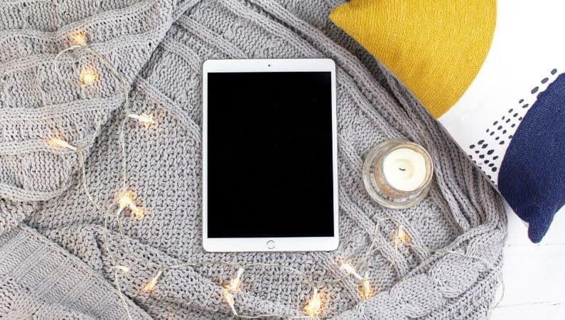 tablet vela mantas luces